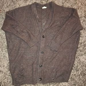 Over sized ripped boho sweater